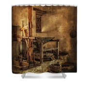 San Jose Mission Mill Shower Curtain
