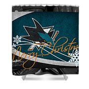 San Jose Sharks Christmas Shower Curtain