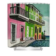 Old San Juan Puerto Rico Street Scene Shower Curtain