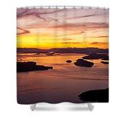 San Juans Sunset Shower Curtain