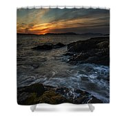 San Juans Sunset Mood Shower Curtain