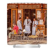 San Miguel - Waiting For Customers Shower Curtain