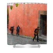San Miguel De Allende Mexico Streets Shower Curtain
