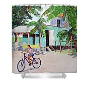 San Pedro Cafe Shower Curtain