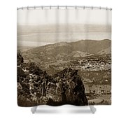 San Rafael From Mount Tamalpais California Circa 1905 Photo By Putnam- Valentine Shower Curtain
