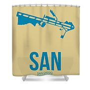 San San Diego Airport Poster 3 Shower Curtain