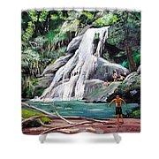 San Sebastian Waterfall Shower Curtain