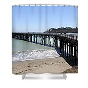 San Simeon Pier  Shower Curtain