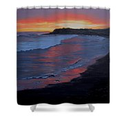San Simeon Sunset Shower Curtain