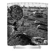 San Xavier Del Bac Cemetery 1987 Shower Curtain