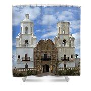 San Xavier Del Bac Mission Facade Shower Curtain