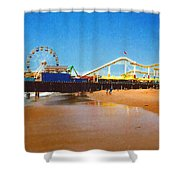 Sana Monica Pier Shower Curtain