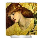Sancta Lilias 1874 Shower Curtain