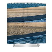 Sand And Water Textures Abstract Shower Curtain