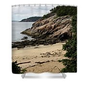 Sand Beach Acadia Park Shower Curtain