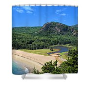 Sand Beach And The Beehive Shower Curtain