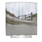 Sand Dune And Fence Shower Curtain