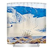 Sand Dune Bordering Salt Creek Trail In Death Valley National Park-california Shower Curtain