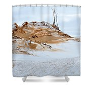 Sand Dune In Winter Shower Curtain