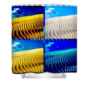Sand Dunes Collage Shower Curtain