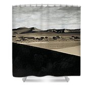 Sand Dunes In A Desert, Namib Desert Shower Curtain