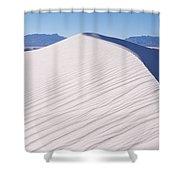Sand Dunes In A Desert, White Sands Shower Curtain