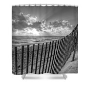 Sand Dunes In Black And White Shower Curtain