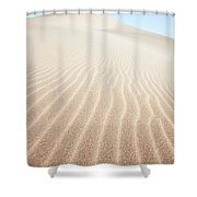Sand Dunes In The Desert At Sunrise Dunhuang China Shower Curtain