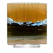 Sand Dunes In White Shower Curtain
