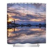 Sand Harbor Shower Curtain