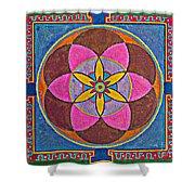 Sand Mandala Shower Curtain