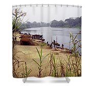 Sand Mining Shower Curtain