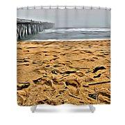 Sand On The Beach Shower Curtain