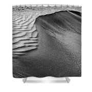 Sand Pattern Abstract - 2 - Black And White Shower Curtain