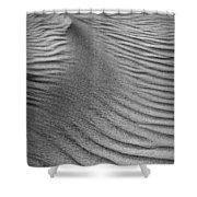 Sand Pattern Abstract - 3 - Black And White Shower Curtain