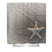 Sand Prints And Starfish II Shower Curtain