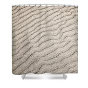Sand Ripples Natural Abstract Shower Curtain