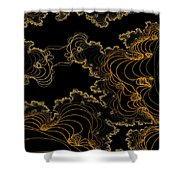 Sand Seafoam And Sky Shower Curtain