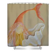 Sand Soul Shower Curtain by Catt Kyriacou