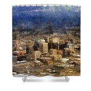 Sand Storm Approaching Phoenix Photo Art Shower Curtain