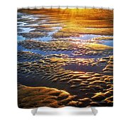 Sand Textures At Sunset Shower Curtain