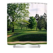 Sand Traps On A Golf Course, Baltimore Shower Curtain