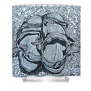 Sandals - Doodle  Shower Curtain