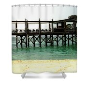 Sandals Resort Nassau Pier Shower Curtain