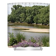 Sandbanks In The River Shower Curtain