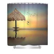 Sandbar Sunset Shower Curtain