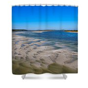 Sandbars On The Fort George River Shower Curtain