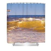 Sandbridge Pier Shower Curtain