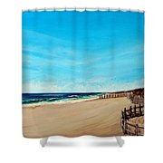 Sandbridge Virginia Beach Shower Curtain