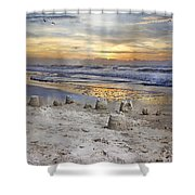 Sandcastle Sunrise Shower Curtain